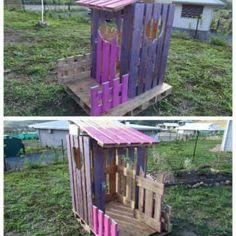 Cabane Princesse En Palettes / Small Pallet Princess Hut
