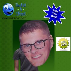Customizable giant head cut-outs. Perfect for parties, sporting events, and graduations.