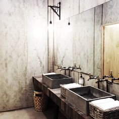 Concrete Heaven bathroom style