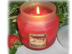 16 oz Gel Strawberry Cheesecake Scent Candle by Unique Aromas. $29.25. Candle color may vary from photograph. Price per jar candle. Strawberry Cheesecake scent. 16 oz Frosted Jar with matching heavy flat lid. Each 16 oz Gel Candle can burn up to 150 hours.Some assembly may be required. Please see product details.Some assembly may be required. Please see product details.