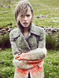 Alexandra Hochguertel by Fred Meylan for Glamour France November 2014, styled by Nora Bordjah