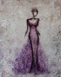 RESERVED Figurative Painting dancer woman by SwallaStudio