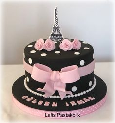 Trendy Birthday Party How To Make Ideas Paris Birthday Cakes, Paris Themed Cakes, Birthday Cake Roses, Paris Themed Birthday Party, Sweet 16 Birthday Cake, Special Birthday Cakes, Paris Cakes, Birthday Cakes For Teens, Pretty Cakes