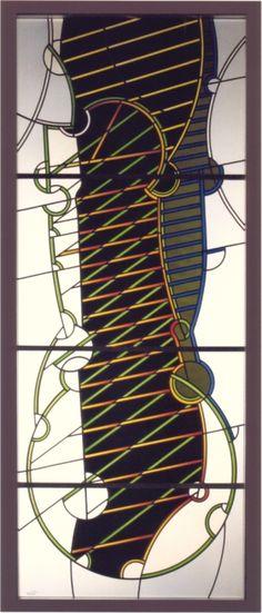 "Ludwig Schaffrath (1924 – 2011), 2007,  ""Sigelarie 2"" Stained Glass Paint, Stained Glass Patterns, Leaded Glass Windows, Ludwig, Mosaics, Ramen, Glass Art, Art Gallery, German"