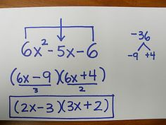 Neat method for factoring.