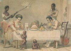 A Brazilian family in Rio de Janeiro, Jean-Baptiste Debret.