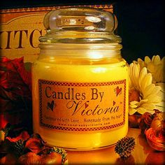 Candles by Victoria - Highly Scented Candles & Wax Tarts - Apothecary Jar Candle - 16 oz. - double wick