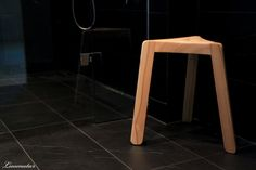 Minimi wooden stool for bathroom / wetroom / sauna by Arto Halmetoja //