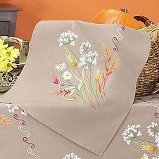 Craftways® Autumn Splendor Table Runner Stamped Embr...