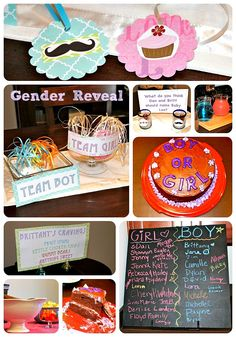 Gender Reveal Baby Party - DIY Blog Ideas....for a long long time down the road