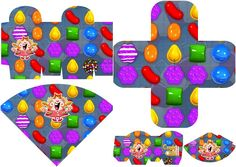 Candy Crush Party: Free Printables Boxes and Free Party Printables.