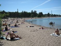 HIetalahti beach in the centre of Helsinki Picture Gallery - Photo Gallery - Images