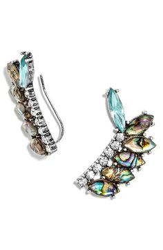 Free shipping and returns on BaubleBar 'Narnia' Ear Crawlers at Nordstrom.com. Iridescent, abalone-inspired crystals line sparkling ear crawlers that conjure images of mystical dragons and magical wardrobes.
