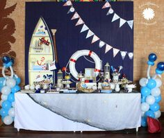 Sailor Bear Birthday Party Planning Ideas Supplies Idea Cake Decor