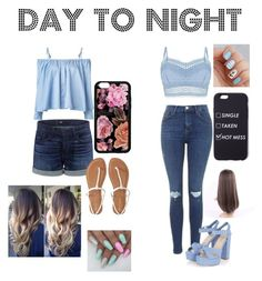 day to night by saraiwilliams-sock on Polyvore featuring polyvore fashion style Sandy Liang Lipsy Topshop 3x1 Aéropostale clothing