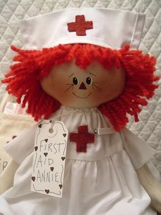 Nurse Raggedy Ann - I love this, I bet there are tons of little patients out there who would like one too. Hey...I'd like one.