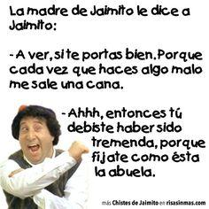 Chistes de Jaimito: Las canas