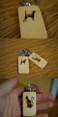 Handmade Keychain in Shape of Dog/Cat, Animal Keychain, Dog Keychain, Cat Keychain, Personalized Keychain, Pet Keychain, Scroll Saw Keychain, Youtube, Youtube Video, DIY
