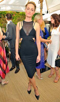 Amber Valletta at the CFDA/Vogue Fashion Fund event.