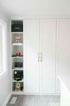 Ikea Pax Wardrobe Hack to create your dream closet! Ikea Pax Wardrobe Hack to create your dream closet! The post Ikea Pax Wardrobe Hack to create your dream closet! appeared first on Kleiderschrank ideen. Closet Walk-in, Ikea Pax Closet, Ikea Wardrobe Hack, Closet Hacks, Build A Closet, Wardrobe Doors, Bedroom Wardrobe, Ikea Pax Doors, Closet Ideas