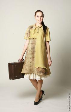 """Купить валяное платье """" Лесное"""" - платье, платье валяное, валяное платье…"""