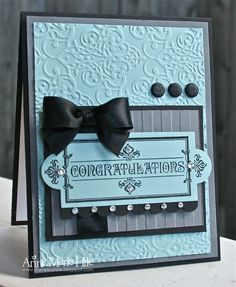 Stampin' Anne: Layered Labels Wedding for {PP#112} need to change up a bit for masculine.