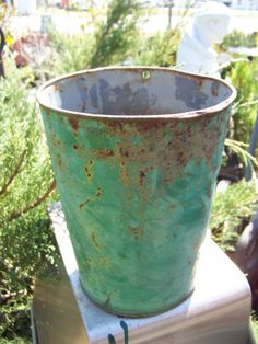 Vintage Metal Green Sap by AlloftheAbove on Etsy, $20.00