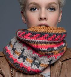 tricotez votre snood scandinave concours Phildar