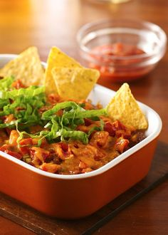 Make any night a family fiesta with this spicy, cheesy beef taco casserole that's ready in just three easy steps. Sub in ground turkey and reduced-fat cheese to lower fat and calories if you like. Top with fresh lettuce and avocado, add some cornbread and dinner is served.