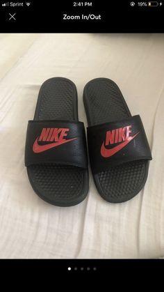 fe49e2535b9d2f Women s Benassi JDI Swoosh Slide Sandals from Finish Line. Nike Benassi JDI  Mens Slide Black Red ...