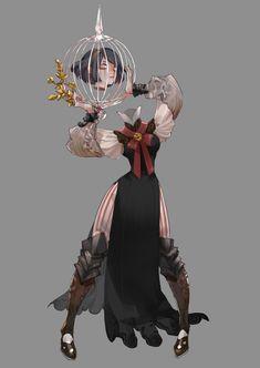 Tweets com mídias de NIRA (@NI_RA_10) / Twitter Fantasy Character Design, Character Design Inspiration, Character Concept, Character Art, Concept Art, Dnd Characters, Character Portraits, Monster, Creature Design