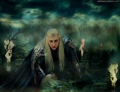 Prince Thranduil discovers Oropher's body =- Art by Quelleelenath  http://quelleelenath.deviantart.com/gallery/ .