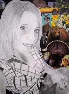 self portrait with collage