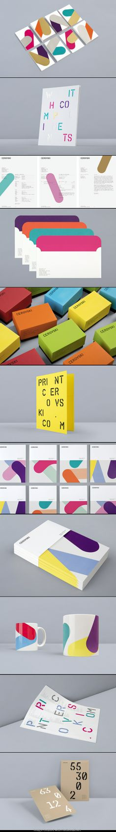 Cerovski Printers brand identity by Bunch, London