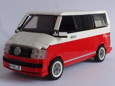 Lego VW T6 Lego Cars, Lego Truck, Vw T1, Volkswagen, Lego Camper, Technique Lego, Amazing Lego Creations, Lego Pictures, Lego Construction