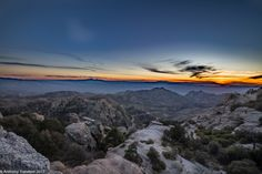 Sun Set Views from Mount Lemmon, Tucson AZ.