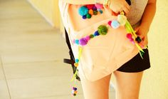 Amp Up Your Backpack With Pom Poms!