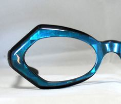 Vintage 60s Mod Electric Blue Eyeglasses Frames on Etsy, $95.00