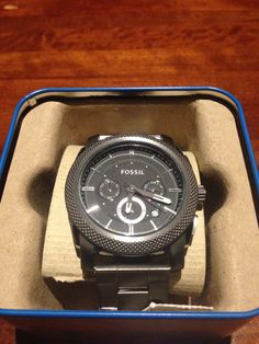 Fossil gunmetal with black face