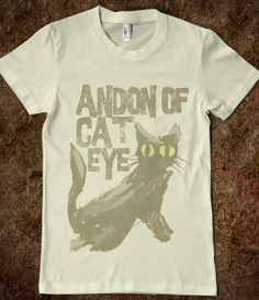 """ANDON OF CAT EYE"" TEE! XD --- #Tees #TShirt #cat #eye #Lantern #Gray #cool"