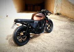 Honda cb500 2001 cafe racer brown gold black