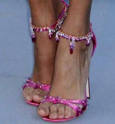 diamond, pink sapphire and ruby shoes ...