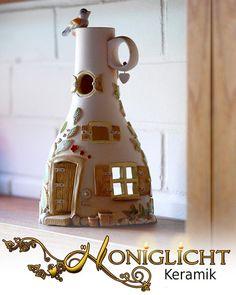 Flaschenwindlicht Keramik von Honiglicht