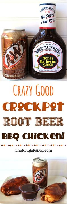 Crockpot Root Beer Barbecue Chicken Recipe! ~ from TheFrugalGirls.com ~ that's right... go grab the Root Beer and Slow Cooker, and get ready for a delicious dinner surprise!