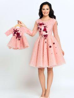 Seturi mama-fiica - Hira Design - Handmade Romania Pearl Dress, Satin, Casual, Handmade, Vintage, Dresses, Romania, Design, Fashion