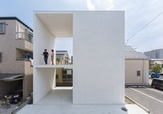 Little House with a Big Terrace is a minimalist residence located in Tokyo, Japan, designed by Takuro Yamamoto. Little House with a Big Terrace is a lucid example of having large external space in. Architecture Design, Japan Architecture, Minimalist Architecture, Pavilion Architecture, Chinese Architecture, Architecture Office, Futuristic Architecture, Sustainable Architecture, Residential Architecture