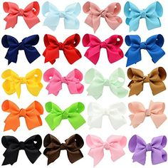 Introducing YOY Fashion Headbands Grosgrain Ribbon Boutique Hair Bows Alligator Clips For Baby Girls Kids Teens Toddlers Children Pack of 20 Multicolored. Great Product and follow us to get more updates!