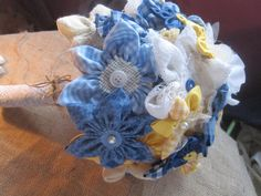 extra large wedding bouquet fabric flowers bridal by darlyndax, $149.00