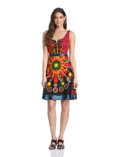 Desigual Women's Railey Straps Dress for only $62.75 You save: $51.25 (45%)