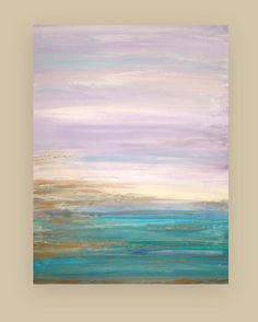 Original Seascape Acrylic Abstract Painting by OraBirenbaumArt, $365.00
